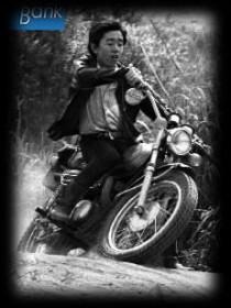 カミナリ族。昭和45年6月 多摩川河原にあるスクランブル練習場内で